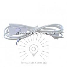 LMA017 Кабель с плоской вилкой Lemanso 1,9м + выключатель белый