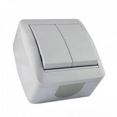 LMR2002 Выключатель накладной 2-й LEMANSO Магнолия белый