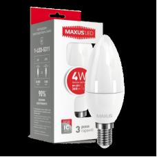 LED ЛАМПА MAXUS C37 CL-F 4W ТЕПЛЫЙ СВЕТ E14 (1-LED-5311)