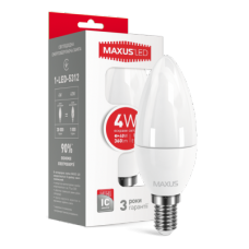 LED ЛАМПА MAXUS C37 CL-F 4W ЯРКИЙ СВЕТ E14 (1-LED-5312)