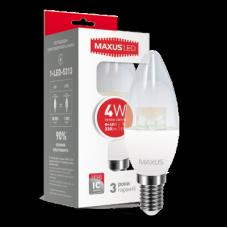 LED ЛАМПА MAXUS C37 CL-C 4W ТЕПЛЫЙ СВЕТ E14 (1-LED-5313)