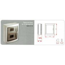 Щиток пластиковый, навесной электротехнический 16-х. модульный, VI-KO