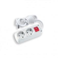 Удлинитель электрический  Viko 90107620 2гн.2м+кн с/з