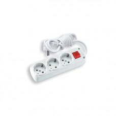 Удлинитель электрический  Viko 90107820 3гн.2м+кн с/з