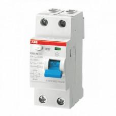 Выключатель дифференциального тока 2 модульный F202 AC-25/0,03