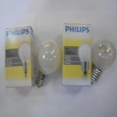 Лампочка Philips шар матовая