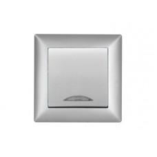 Выключатель с индикацией VISAGE Серебро