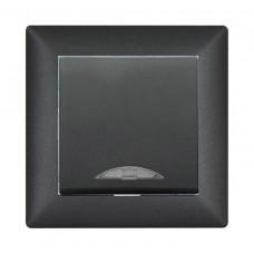 Выключатель с индикацией VISAGE Черный