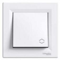 Переключатель 1-клавишный Asfora, цвет белый
